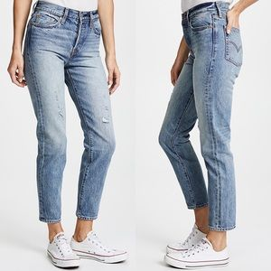 Levi's selvedge wedgie icon high rise mom jeans